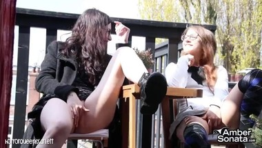 TWO GLASSES TEENS MASTURBATION