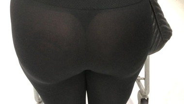 See thru leggings candid slut