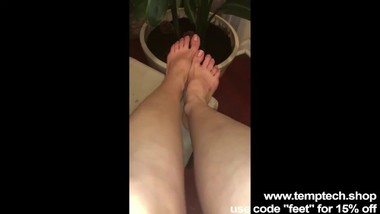My sister sent me a video asking for a pedicure - Foot Fetish