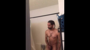 Part 2 man showering! 2 hand stroking BBC