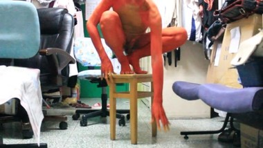 Body Painting : I am a super cute red dragon cub