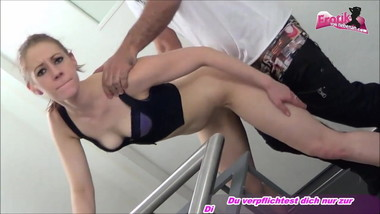 SCANDAL - THREESOME AT stairwell - german sinny slut mmf