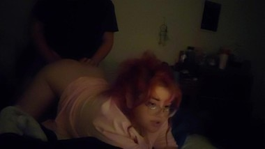 Fucking pink haired girlfriend