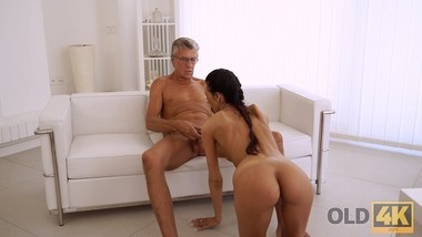 OLD4K. Incredible old and young sex happened right in the