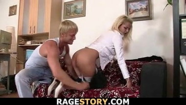 Office blonde gets fucked rudely for cheating