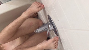 FtM Pussy Cumming from the Water Faucet Again