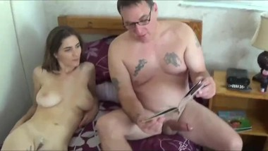 Stepdad fucks his naughty stepdaughter before going to bed