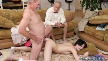 Old strap on hot daddy driving fucking for allowance