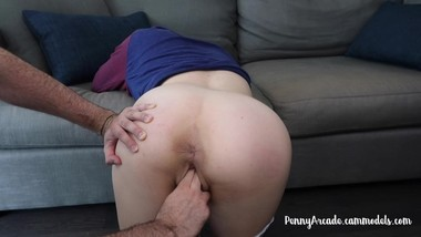 Getting my fat pussy fingered and stretched