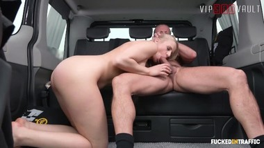 VIPSEXVAULT - Super Hot Czech Teen Fucked Like A Slut In a Taxi
