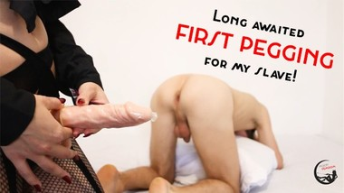 SPECIAL ISSUE! Long awaited FIRST PEGGING for my slave!