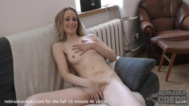 18yo fresh kerry doing her first time video so nervous