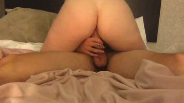 Riding his dick in the hotel room