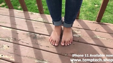 French Tip Toes - Foot Fetish