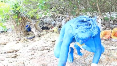 Bodypinat Cosplay : A Blue Pokemon In The Wild