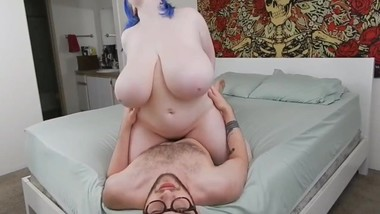 Busty and horny stepdaughter gets amazing creampie from her stepdad