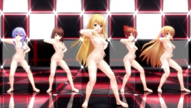 MMD SEX Girlfriend Kari Five Girl Dance - Cellphone Paranoia Girl