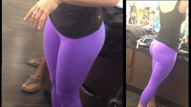Teen Voyeur - Purple Leggings Cutie