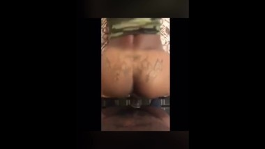 Ebony Bitch Twerking on a dick BBC