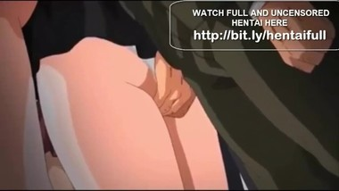 Hentai School Girl Fucked on the Public Train
