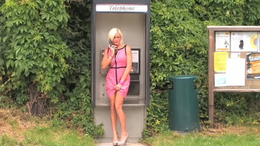 Slut Phonebox Pissing